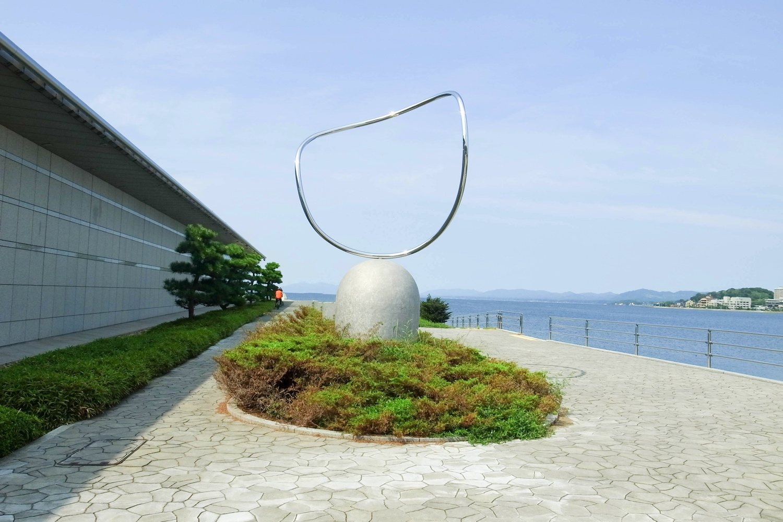 松江市の宍道湖夕日スポットの写真